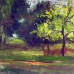 Árbol verde claro