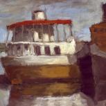 Barco con techo rojo - La Boca - Bs. As.