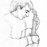 El guitarrista Scibona