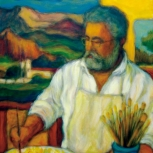 El pintor Jorge Frasca